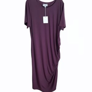 Ryllace Day-to-Night Ruched T-shirt Dress New